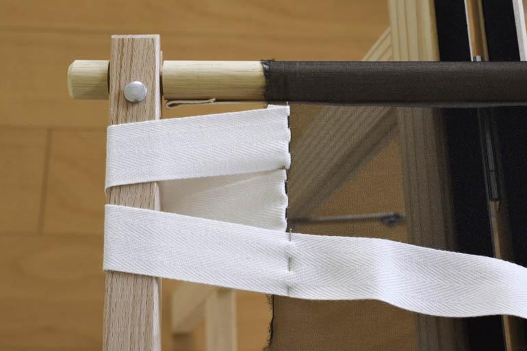 刺繍枠の張り方、布テープ8