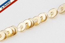 【糸通しスパンコール】3mm平 メタリックペールゴールド【1000枚】