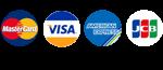 Master Card, VISA, American Express, JCB