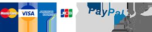 Master Card, VISA, American Express, JCB, PAYPAL